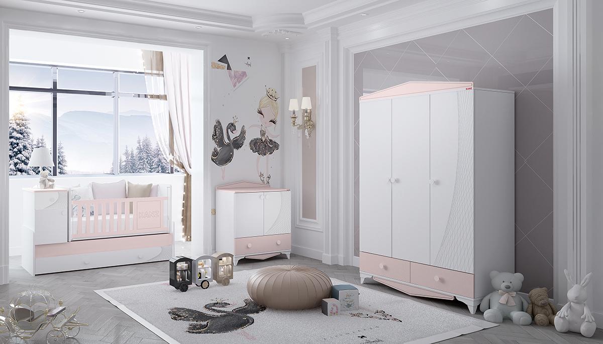 POLLY - PEMBE - Bebek Odası